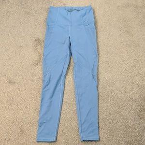 Light blue workout leggings XS short